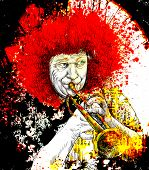 Musician: Trumpet Player (mixed Media Art)