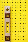 Used Level Hanging On Pegboard