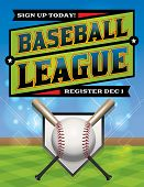 pic of baseball bat  - A baseball league registration illustration - JPG