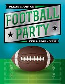 American Football Party Illustration