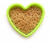 Slice Of Bread In Heart