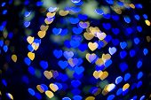Heart Bokeh Background. Valentine's Day Background