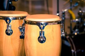 foto of bongo  - fragment bongos an instrument for percussionists and musicians african drums