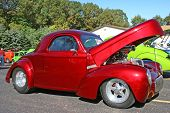 Red Street Rod Coupe