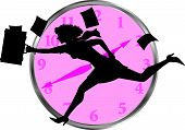 Businesswoman_Clock