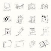 picture of sketch book  - Sketch style desktop icons set - JPG
