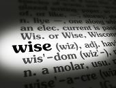 stock photo of wise  - Dictionary definition of the word  - JPG
