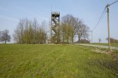 stock photo of observed  - The Venner observation tower on Ostercappeln  - JPG