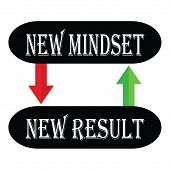 stock photo of idealistic  - vector illustration of new mindset new result - JPG