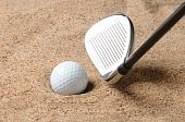 Golf Ball In Sand Trap
