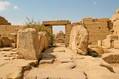 picture of hieroglyphic  - Ancient ruins of Karnak temple in Egypt - JPG
