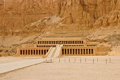 picture of hatshepsut  - Panaramic view of the temple of Hatshepsut near Luxor Deir el - JPG