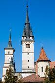 stock photo of saint-nicolas  - Towers of Saint Nicholas Church in Brasov - JPG