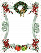 pic of candy cane border  - Image and illustration composition for Christmas card background - JPG