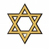 pic of covenant  - image of the Star of David on a white background isolated - JPG