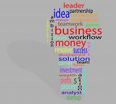 picture of lightbulb  - Wordcloud business lightbulb - JPG
