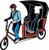 Cycle Rickshaw driver  Passengers