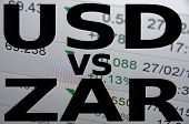 foto of zar  - US dollar versus South African rand  - JPG