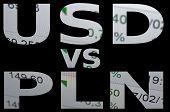 foto of zloty  - US dollar versus Polish zloty  - JPG