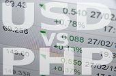 stock photo of pesos  - US dollar versus Philippine peso  - JPG