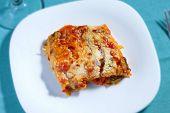image of lasagna  - Vegetarian lasagna  - JPG