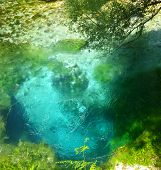 pic of albania  - The beautiful blue eye natural spring in Albania - JPG