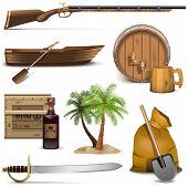 stock photo of saber  - Pirate icons set 4 - JPG