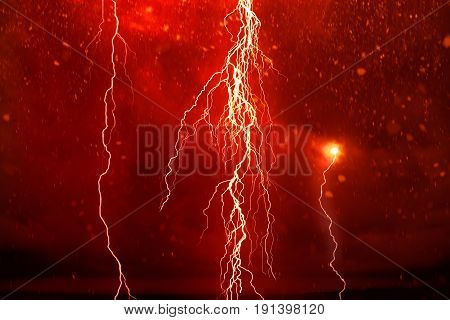Lightning in front