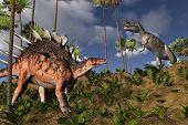 Kentrosaurus And Ceratosaurus