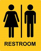 Restroom sign - VECTOR