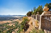 View on Spanish valley. ronda. Malaga