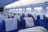 Boeing Airplaine innere Leere und Passagiere kostenlos
