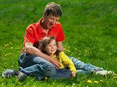 family enjoy outdoors