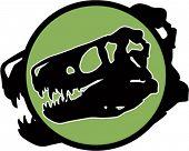 Dinosaur fossiele hoofd