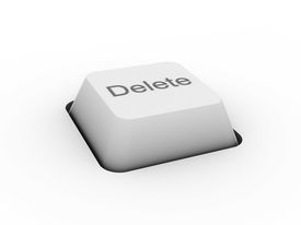 stock photo of keyboard keys  - Delete  - JPG