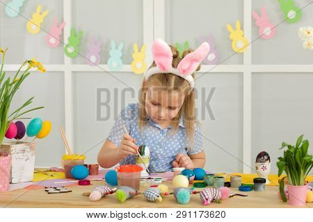 Little Child Girl With Easter