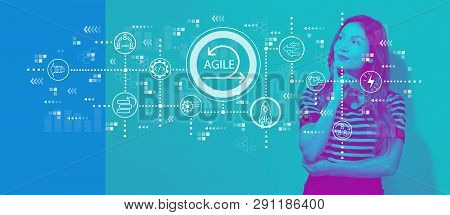 Agile Concept With Young Businesswoman