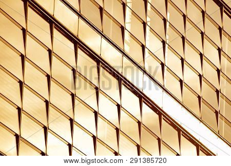 Orange Colored Glass Windows Of