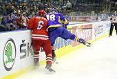 Hóquei no gelo. Ucrânia vs Polónia