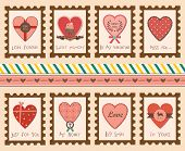 Set of Valentine's Day Love Stamps