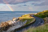 The Eastern Coast Of Northern Ireland And Antrim Coastal Road, A.k.a. Causeway Coastal Route With Ca poster