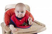 Toddler Eating Potatoes