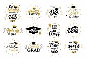 Inspirational Grad Party Quotes To Congrat Graduates poster