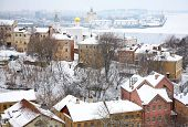 Постер, плакат: Январь зимний вид стрелка Нижний Новгород Россия