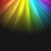 Creative Vector Illustration Of Rainbow Glare Spectrum Isolated On Transparent Background. Art Desig poster