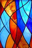Abstract vitrage window pattern