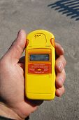 Radiation measurment.Chernobyl area. Lost city Pripyat. Modern ruins. Ukraine. Kiev region.