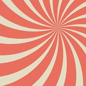 Sunlight Retro Faded Background. Red And Beige Color Burst Background. poster