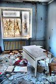 Hospital. Chernobyl area. Lost city Pripyat. Modern ruins. Ukraine. Kiev region Pseudo HDR