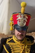 Hussar. Russian cavalry. Kiev's hussar regiment uniform. Crimean War time